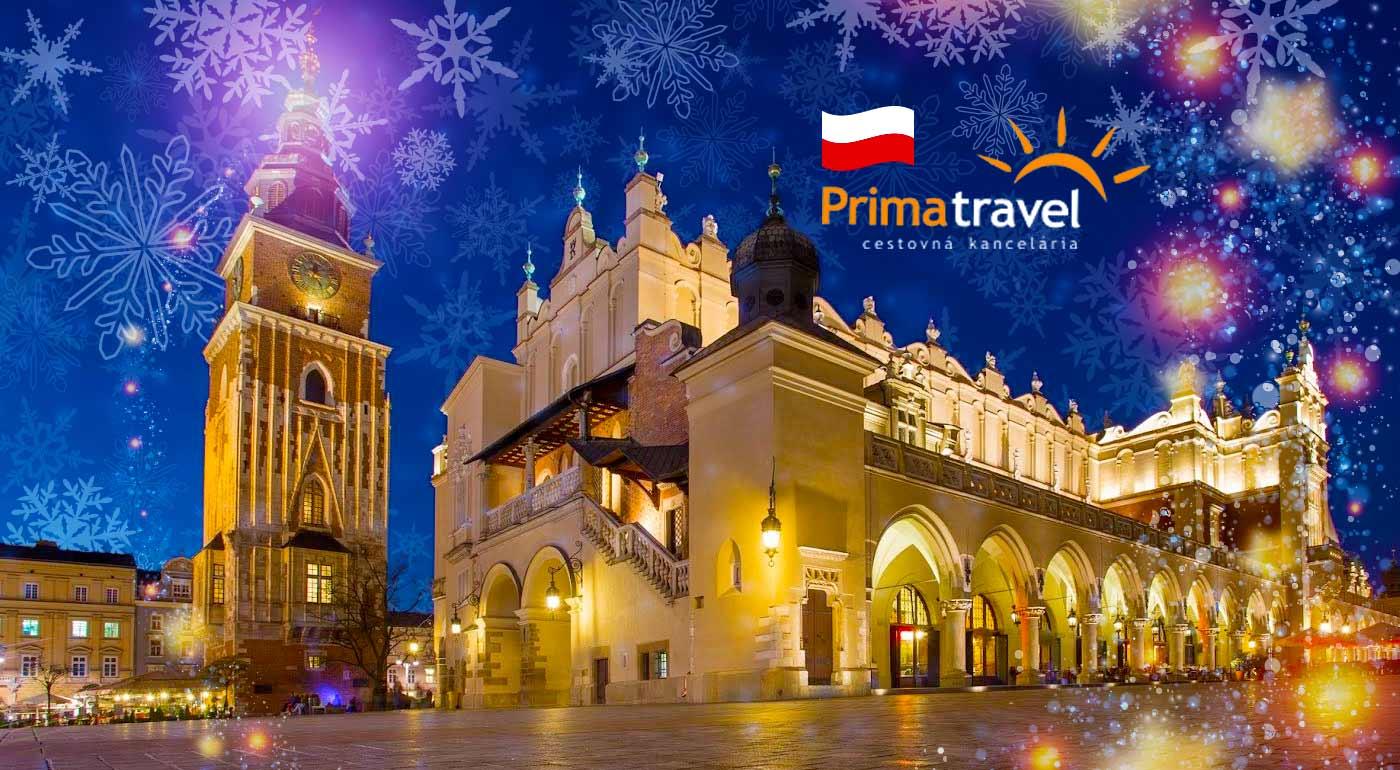 2-dňový zájazd na vianočné trhy do Krakowa s návštevou soľnej bane Wieliczka a Wadowicami