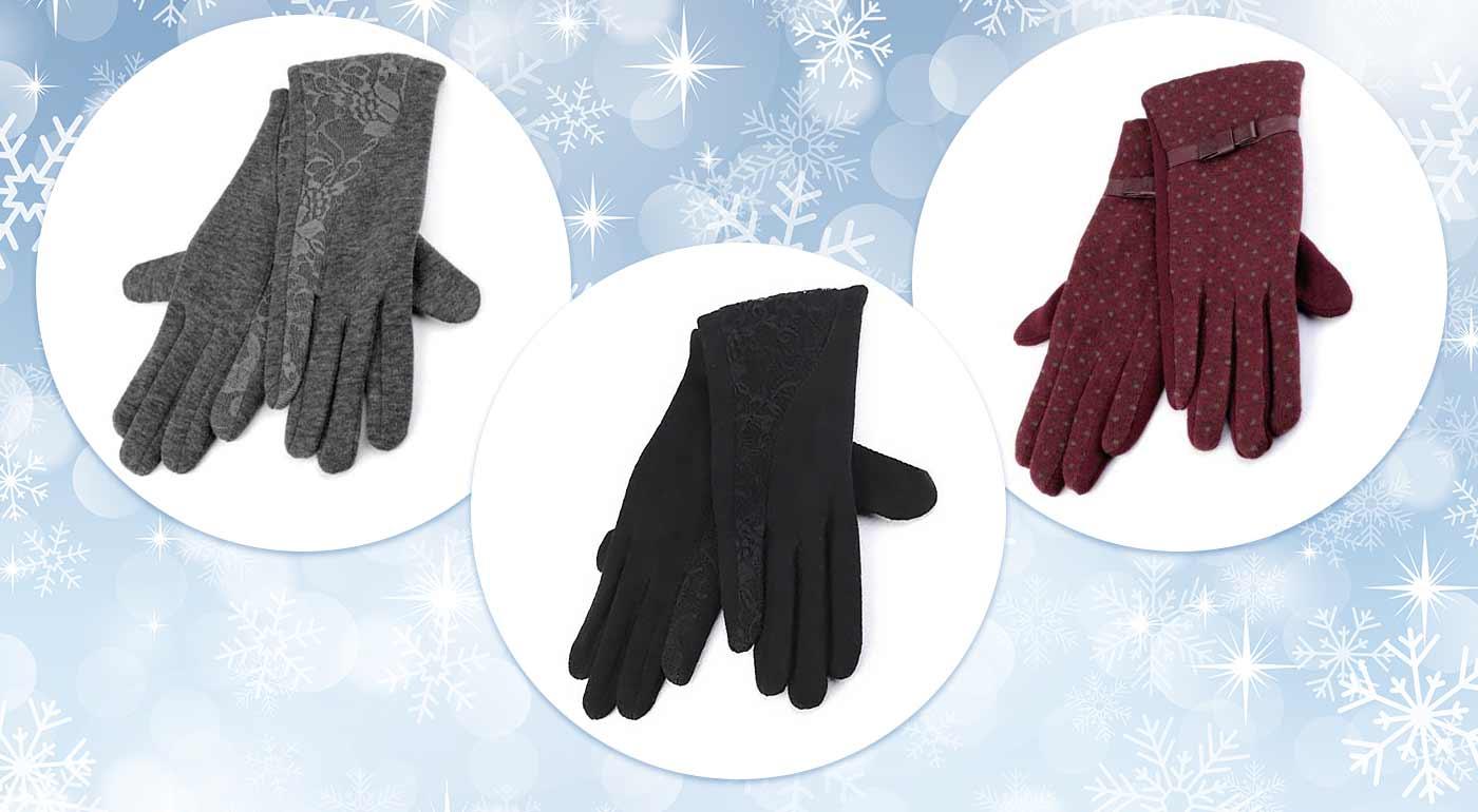Elegantné dámske rukavice s bodkami alebo čipkou