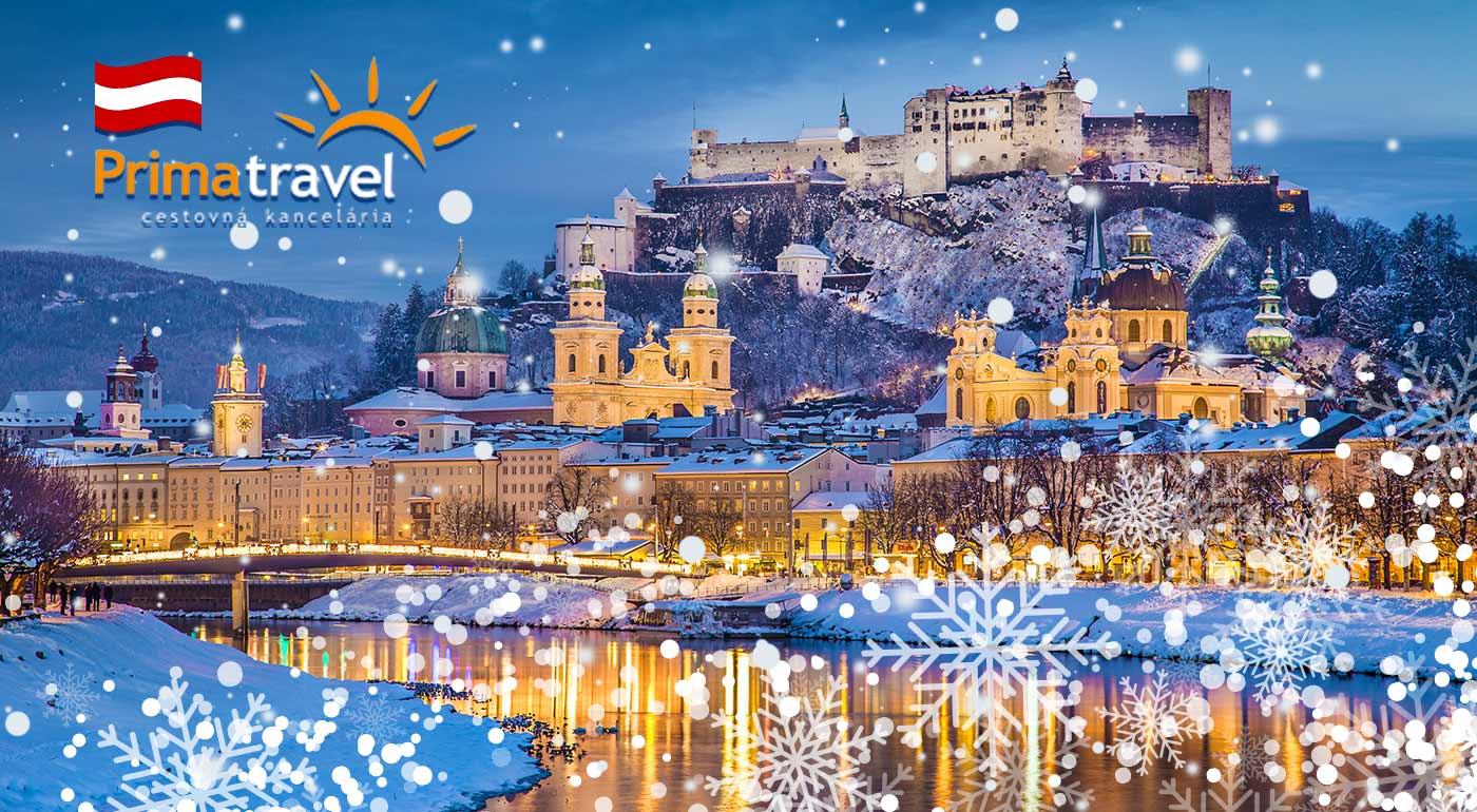 Vychutnajte si čaro vianočného Salzburgu, dedinky Hallstatt či jazera Wolfgangsee