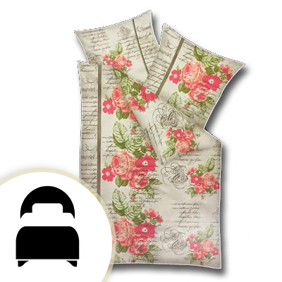 Obliečky pre jednolôžko - model B ruže