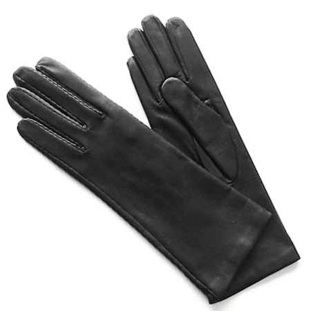 Dámske kožené rukavice - farba čierna