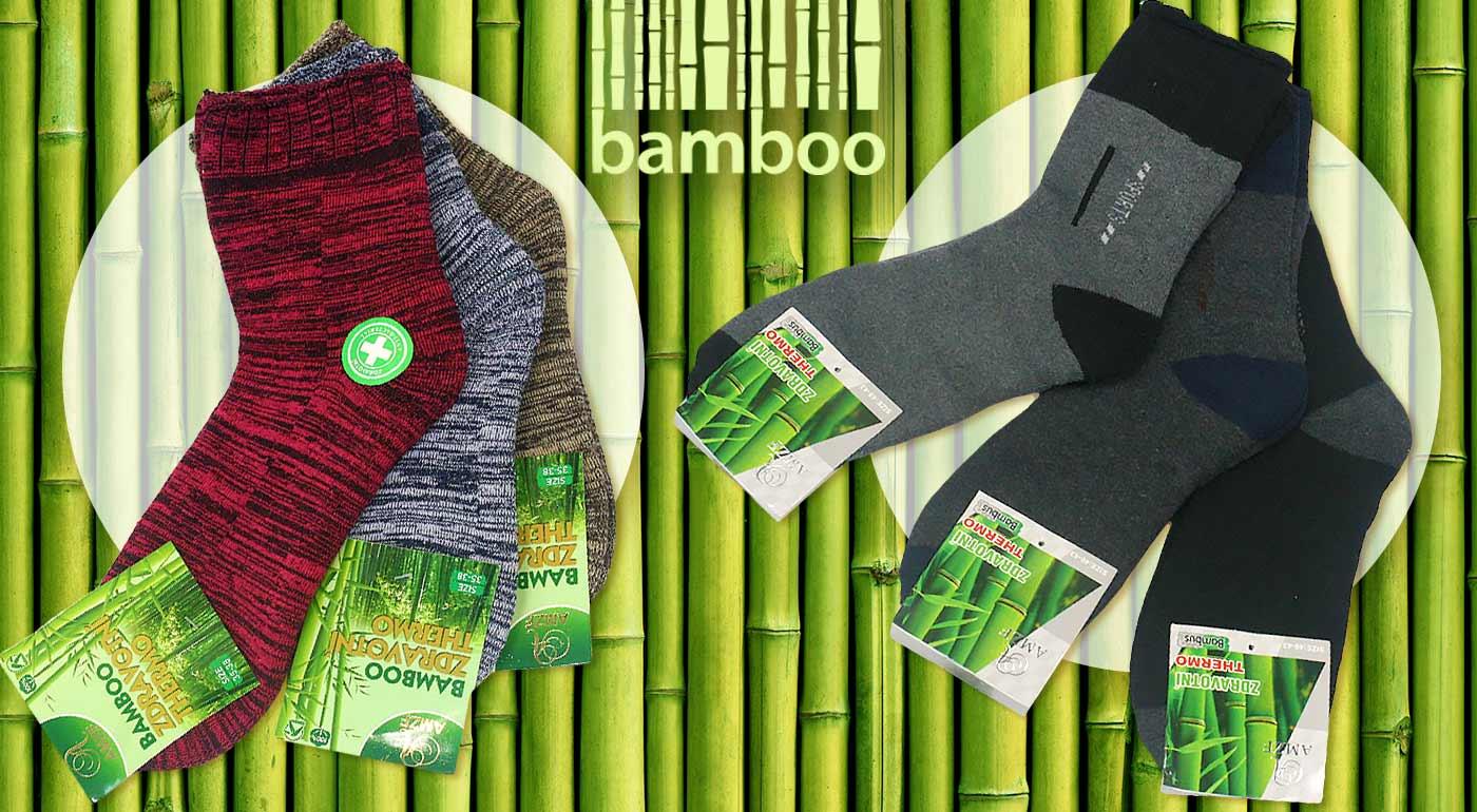 Pánske a dámske termo ponožky z bambusového vlákna