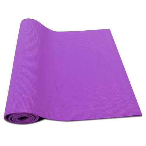 Podložka na cvičenie vrátane obalu, farba fialová