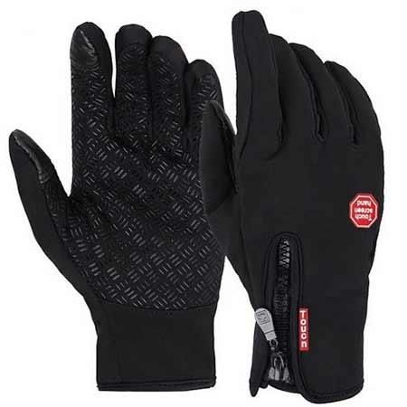 Zimné rukavice - čierna farba, veľkosť M