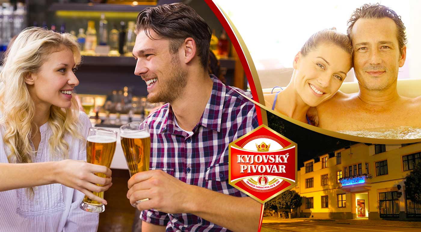 Kyjovský pivovar s polpenziou, neobmedzenou konzumáciou piva, chmeľovým kúpeľom i prehliadkou pivovaru