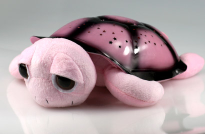 Hrajúca svietiaca korytnačka s otvorenými očkami - ružová
