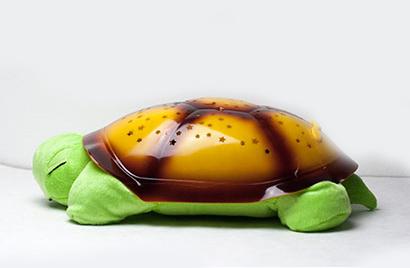 Hrajúca svietiaca plyšová korytnačka - krikľavozelená