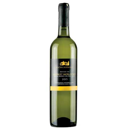 Modravin - Muškát Moravský - biele víno, suché, 0,75 l