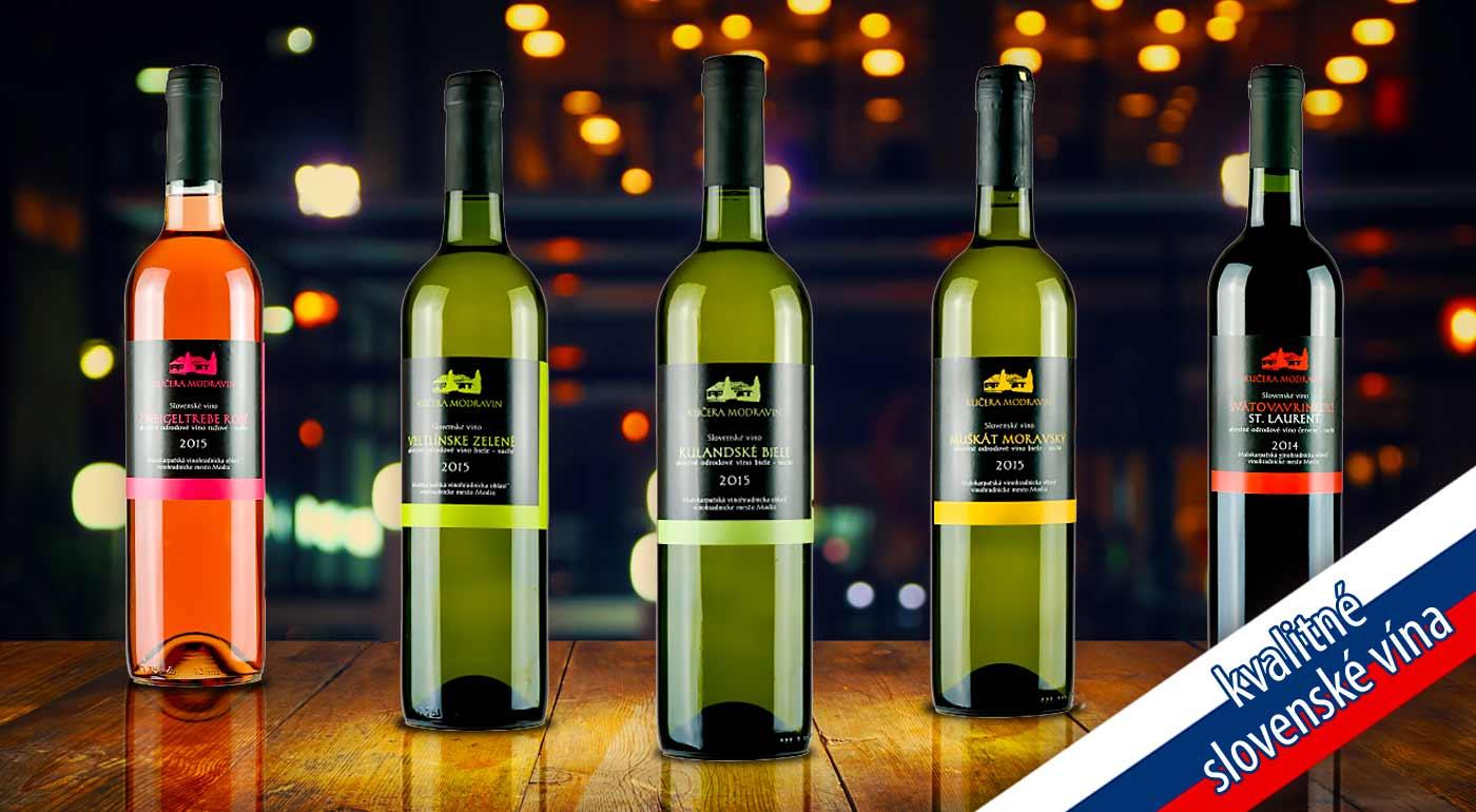 Výnimočné slovenské vína z rodinného vinárstva Modravin od Bottles.sk - v ponuke až 5 obľúbených druhov