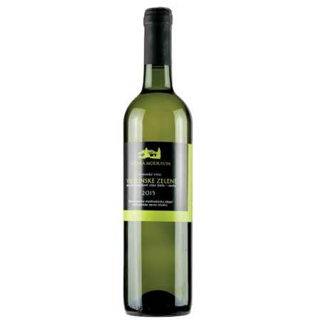 Modravin - Veltlínske zelené - biele víno, suché, 0,75 l