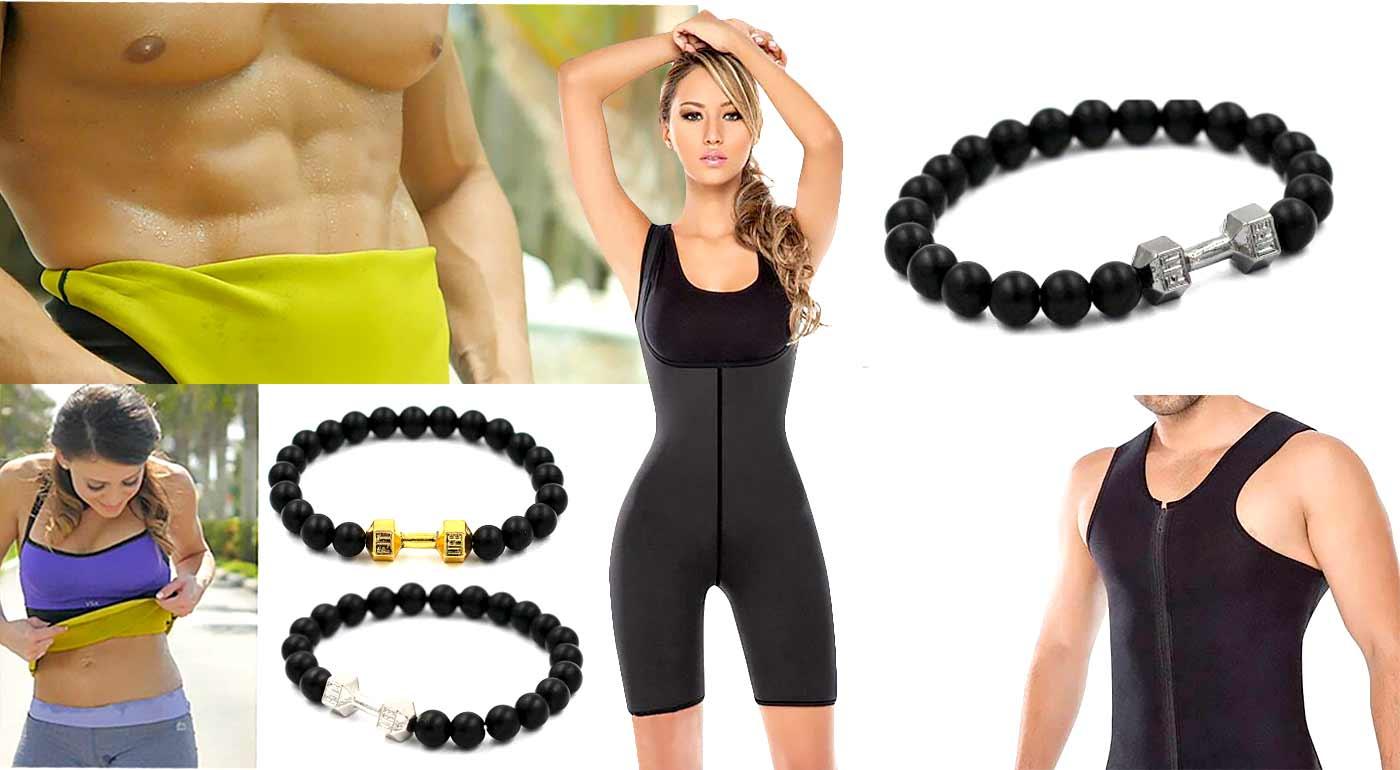 Neoprénové tielka pre dámy aj pánov, neoprénový pás alebo overal - v ponuke i športový onyxový náramok