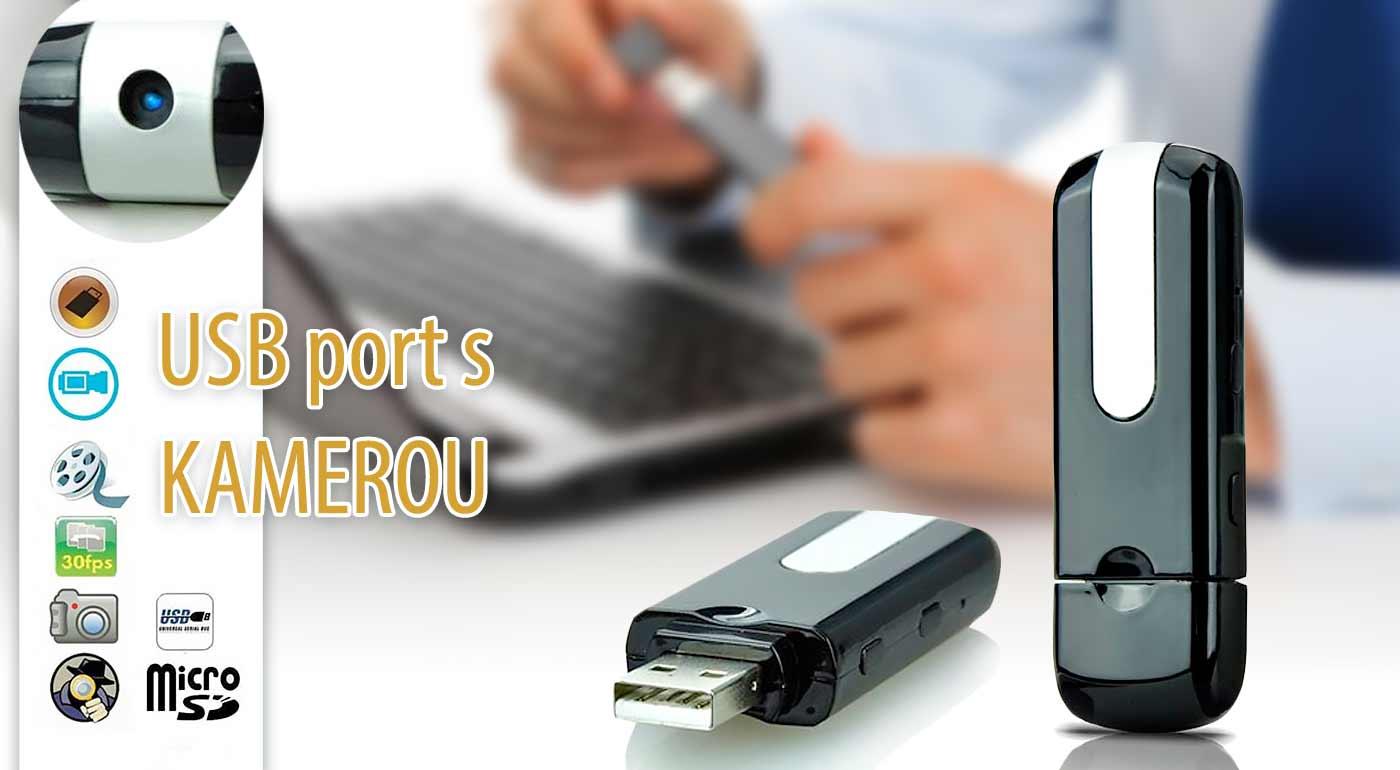 Špiónsky USB kľúč s kamerou pre nahrávanie videí či zvuku alebo robenie fotografií