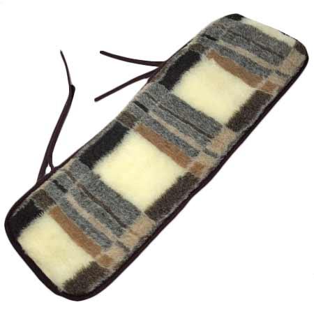 Ľadvinový pás z ovčej vlny s kockami