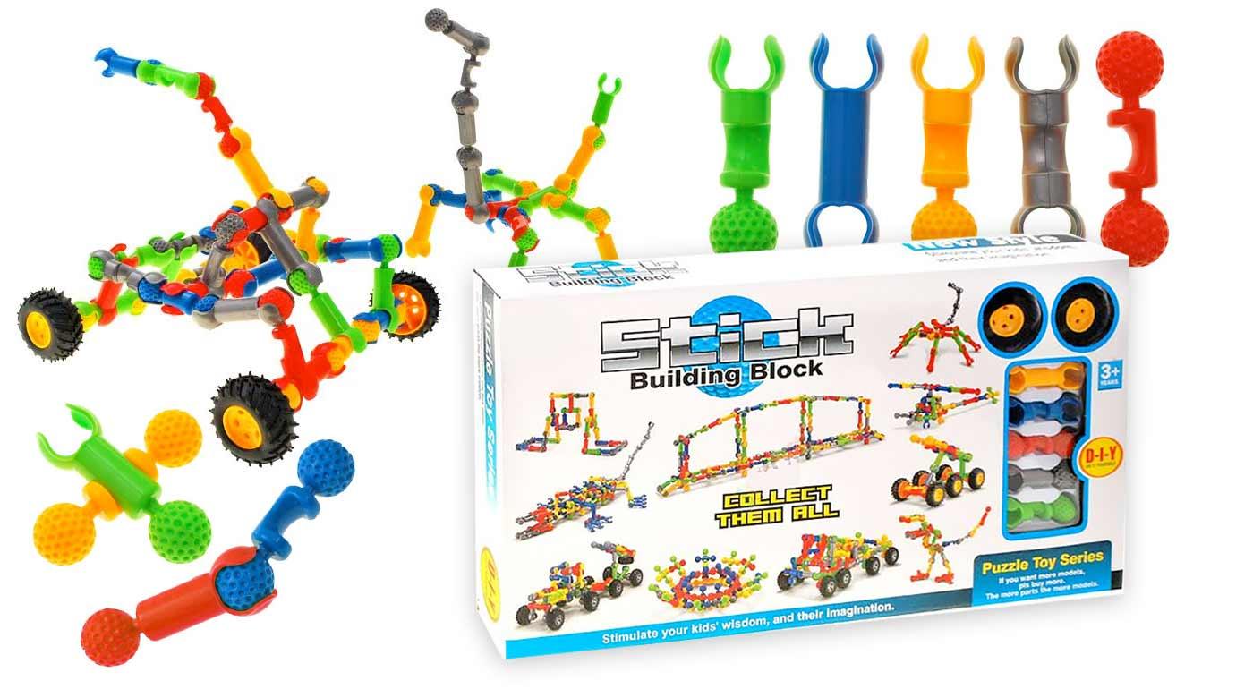 Detská stavebnica Stick Building Block - stimulujte predstavivosť, kreativitu a logiku vašich detí