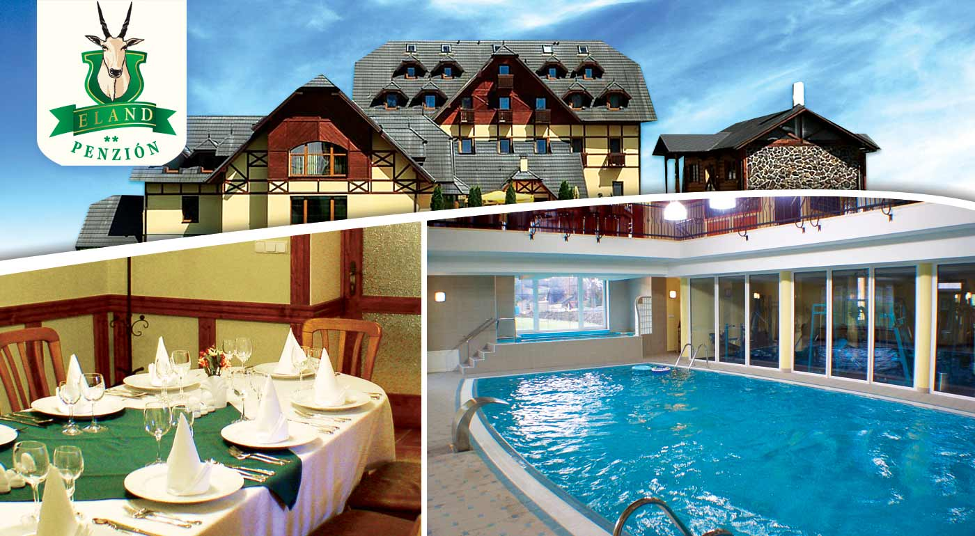 Užite si 5 dní relaxu s wellness, plnou penziou alebo s All inclusive v hoteli***+ ELAND neďaleko Pienin