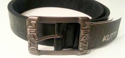 Pánsky kožený opasok s oceľovou prackou - model 2