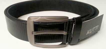 Pánsky kožený opasok s oceľovou prackou - model 3