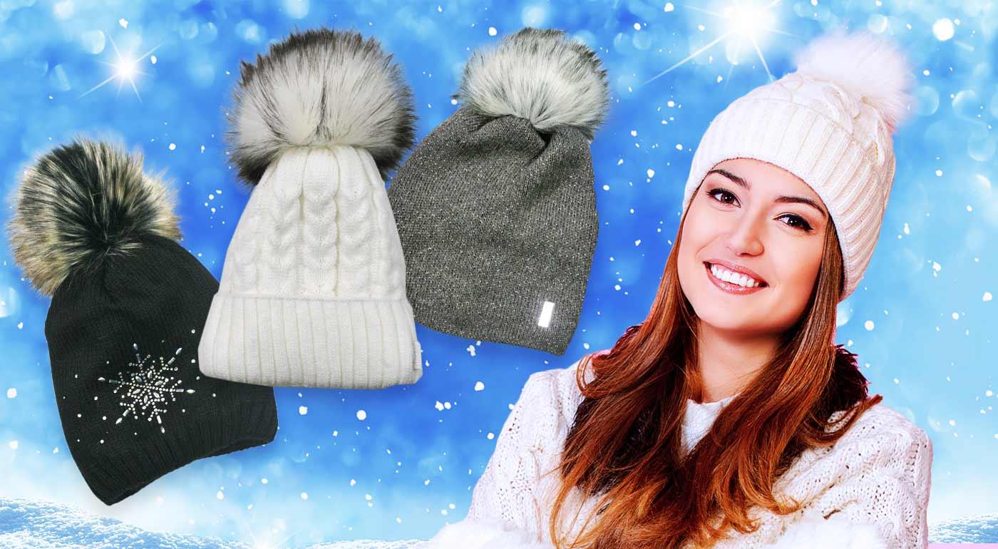 Štýlové zimné čiapky pre dámy
