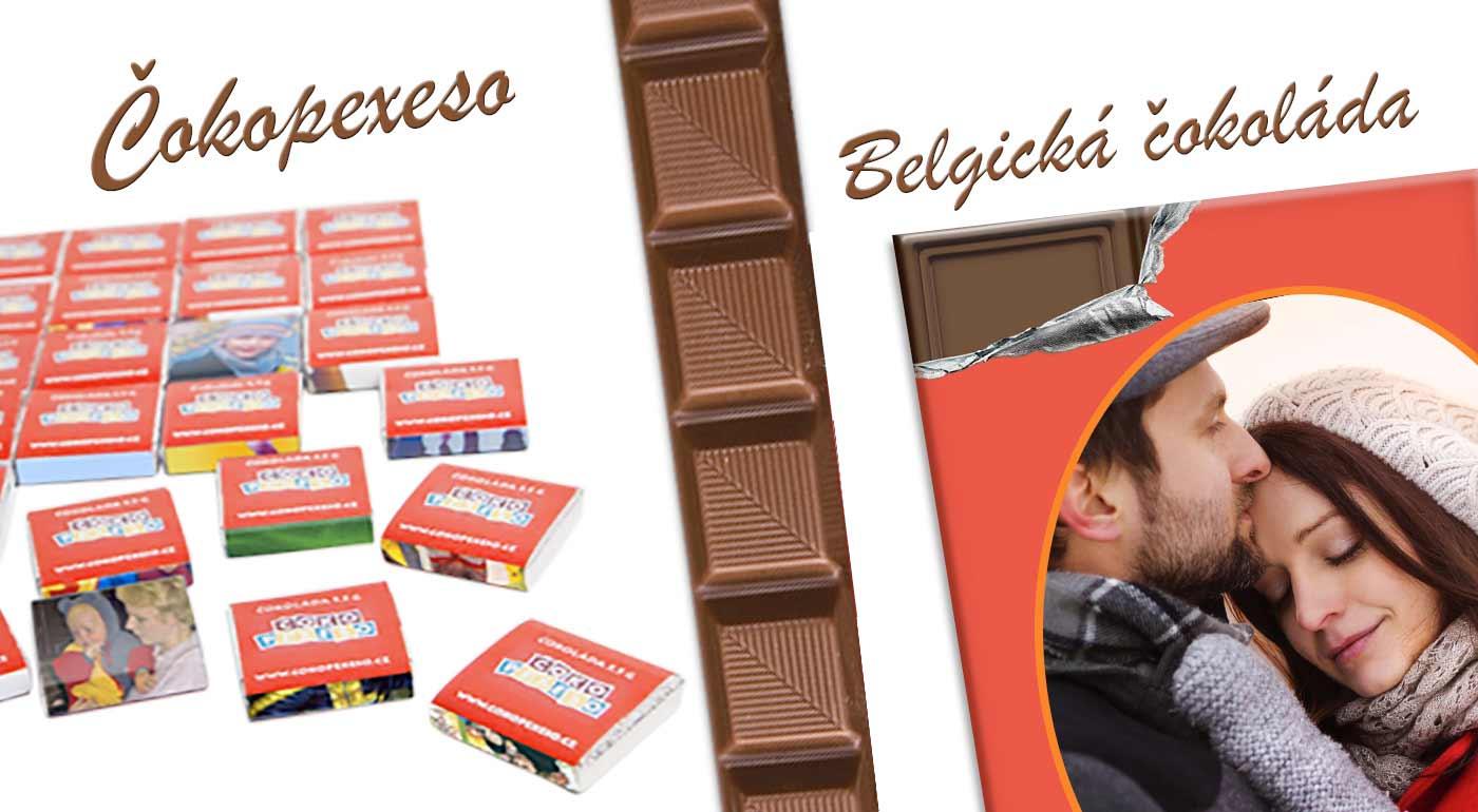 Sladký valentínsky darček - belgická čokoláda alebo 18-dielne čokopexeso s vlastnou potlačou