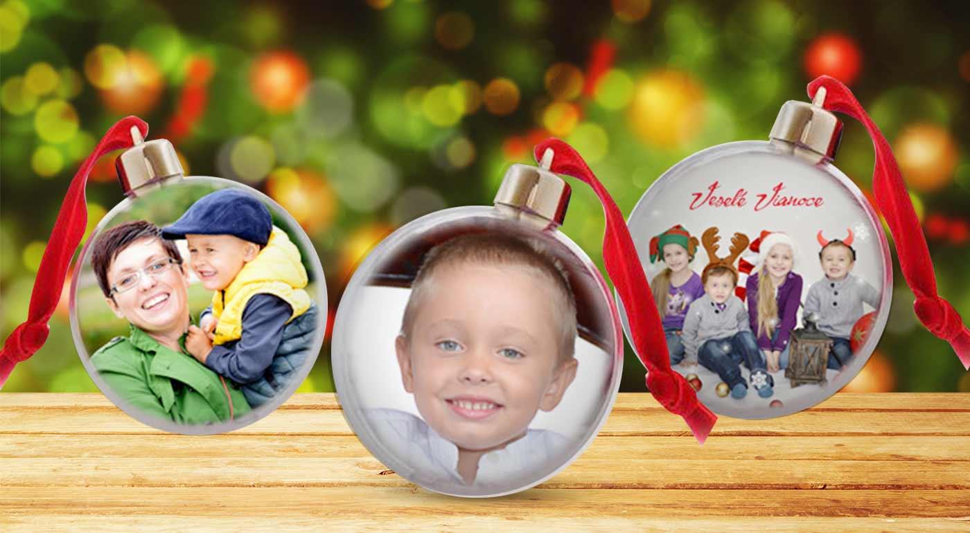 Vianočná guľa s vlastnou fotografiou. Vyrobte si jedinečnú ozdobu a potešte svojich blízkych!