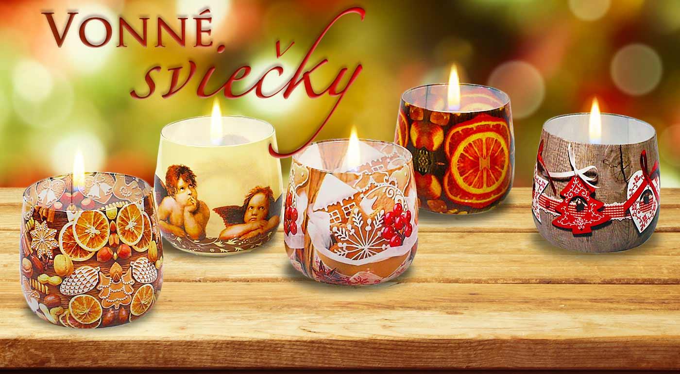 Vianočné voňavé sviečky - vyberte si z množstva druhov 5 tých najkrajších!
