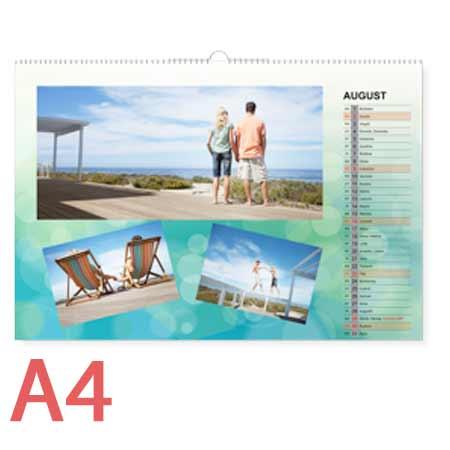 Nástenný fotokalendár mesačný, formát A4 (12 strán + 1 titulná) - orientácia na šírku