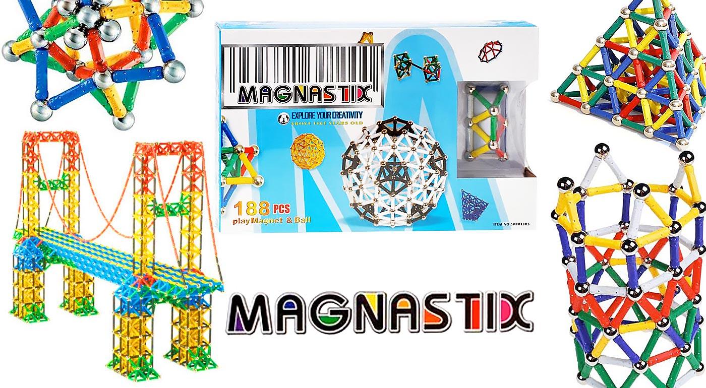 Kvalitná detská magnetická stavebnica Magnastix, nielen pre malých vedátorov