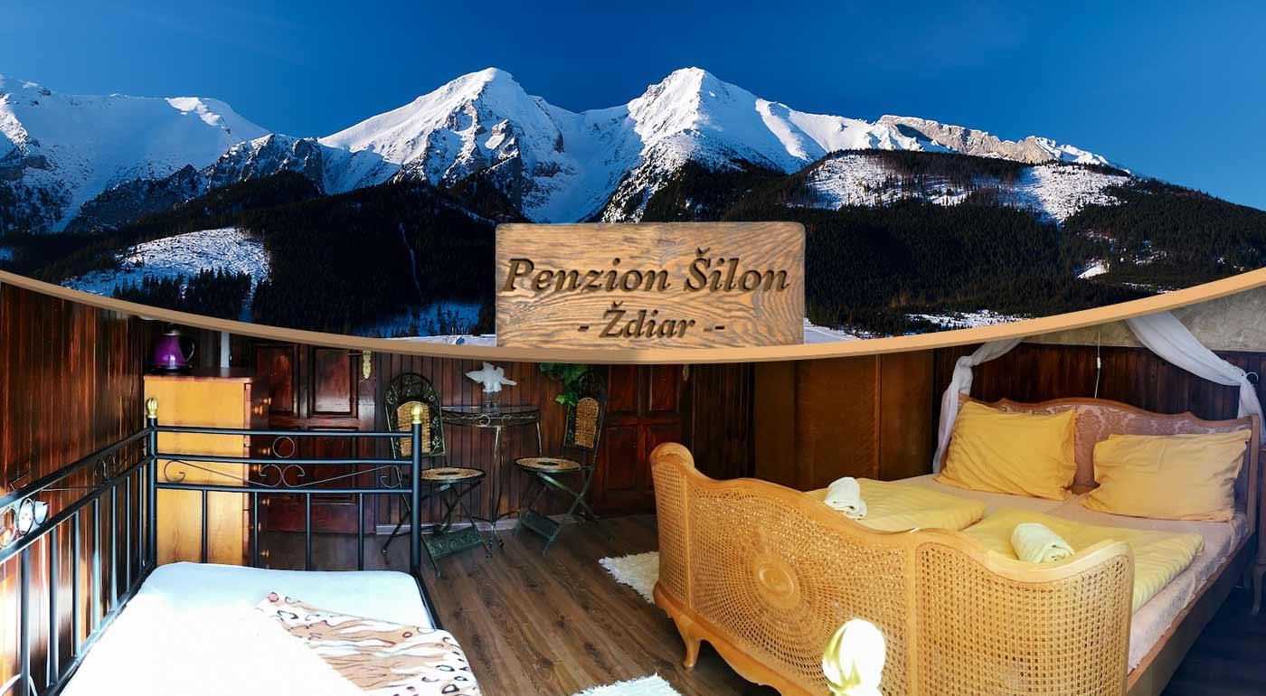 Skvelá tatranská lyžovačka alebo prechádzky letnou prírodou - pobyt pre dvoch v Penzióne Šilon v obci Ždiar s polpenziou a balíčkom zliav
