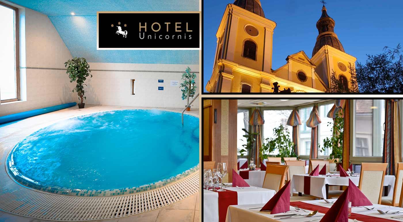 Horúci zimný oddych pre dvoch v maďarskom kúpeľnom meste Eger v Hoteli Unicornis*** s plnou penziou a wellness