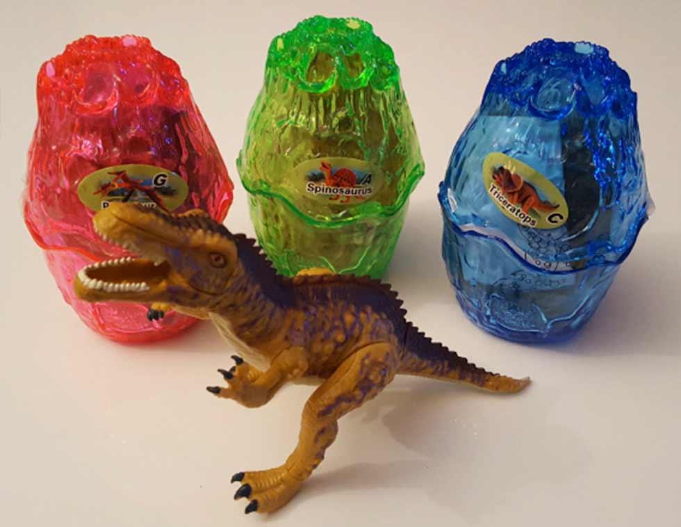2 kusy skladacích dinosaurov vo vajíčku (náhodný výber)