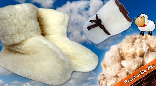 Papučky z ovčej vlny alebo ľadvinový pás z ovčieho rúna. Ideálne zahriatie počas chladných zimných večerov.