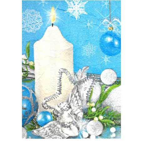 Ručne vyrábaný vianočný pozdrav od zdravotne postihnutých detí  - motív 12