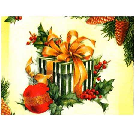 Ručne vyrábaný vianočný pozdrav od zdravotne postihnutých detí  - motív 15