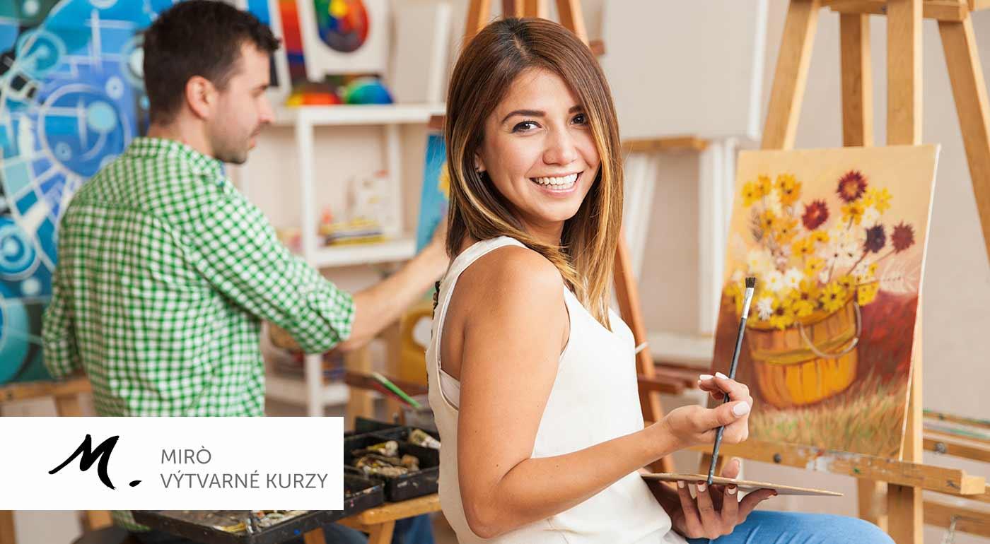 Kreatívne kurzy kresby a maľby v ateliéri Miró - obdarujte vašich blízkych nevšedným vianočným darčekom!