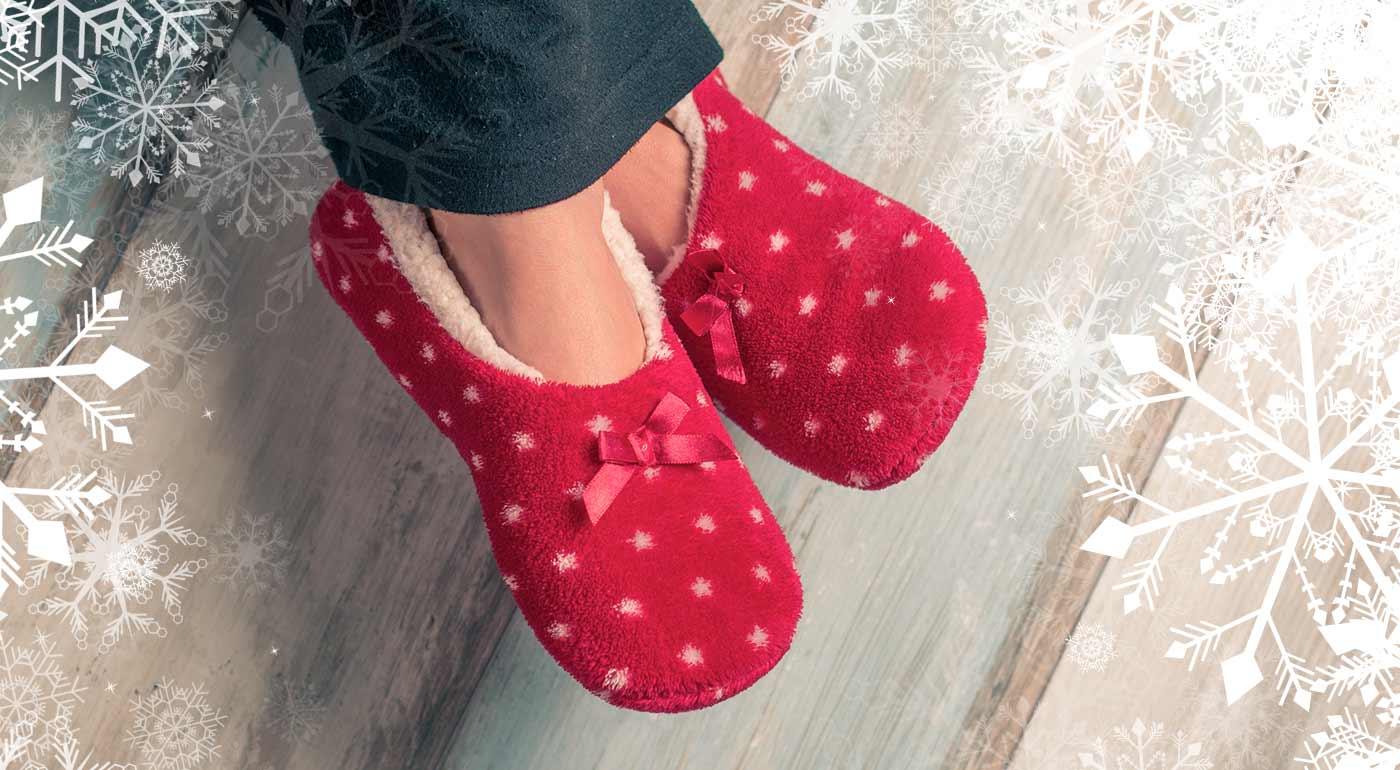 Dámske balerínky z ovčej vlny - perfektne jemné papuče na domáce nosenie