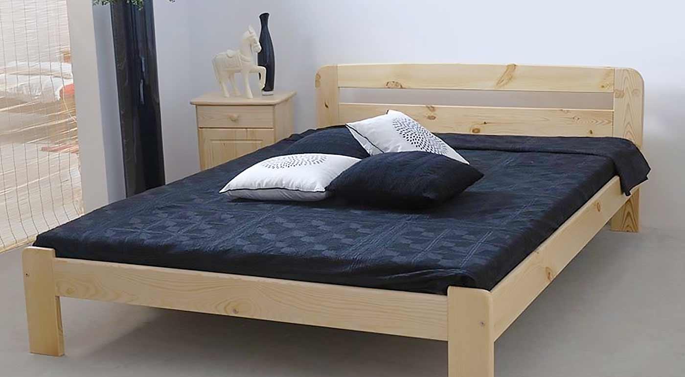 Kvalitné postele z borovicového masívu v rôznych rozmeroch - vrátane matracu a roštu!