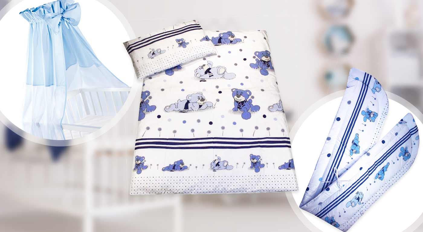 Komplety do detskej postieľky - na výber rôzne varianty s obliečkami, hniezdom, baldachýnom či paplónom a vankúšikom!