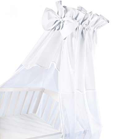 Baldachýn sieťovaný biely