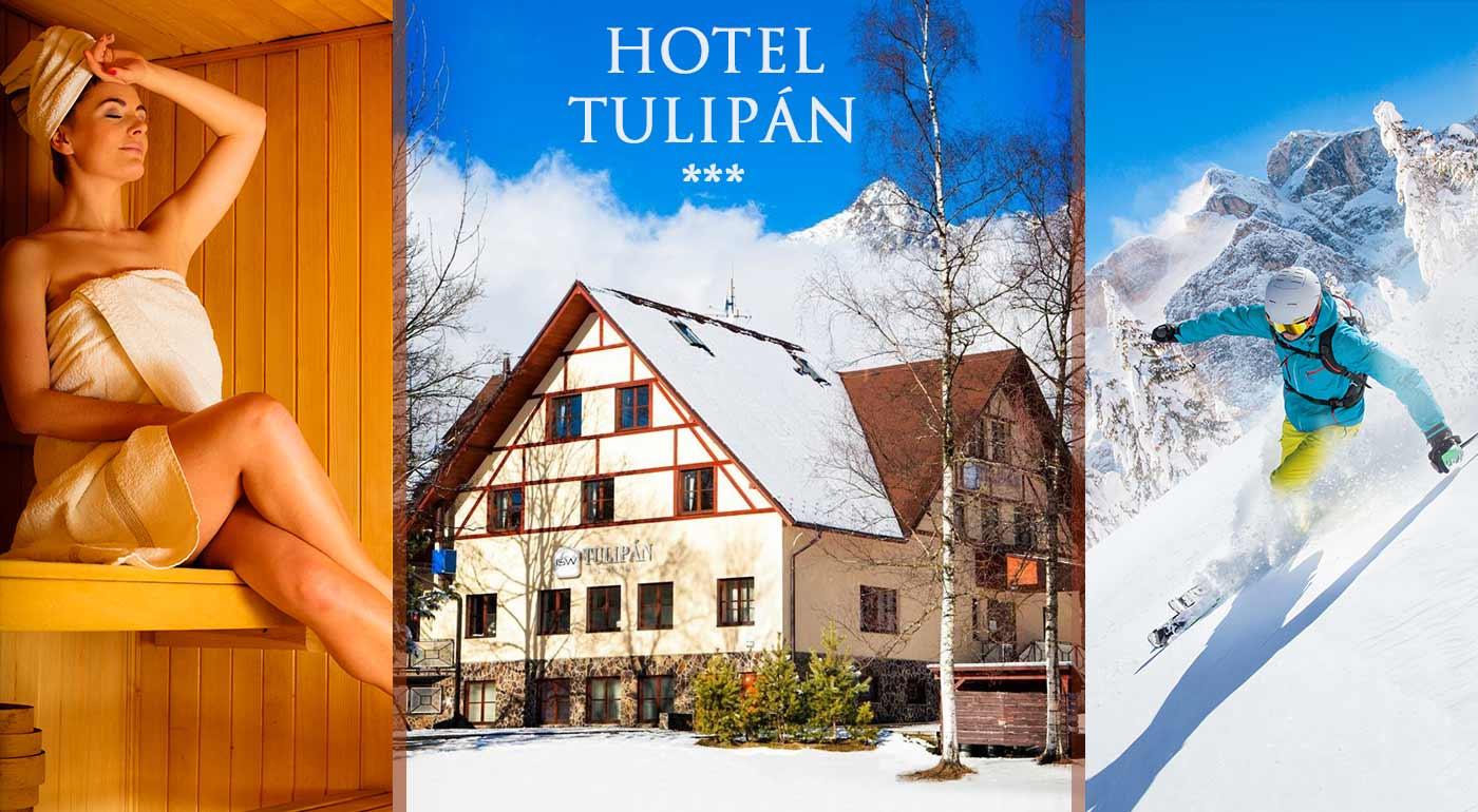 Pobyt v Hoteli Tulipán v Tatranskej Lomnici s polpenziou a neobmedzeným wellness