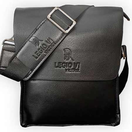 Pánska kožená taška Legio VI Victrix - farba čierna