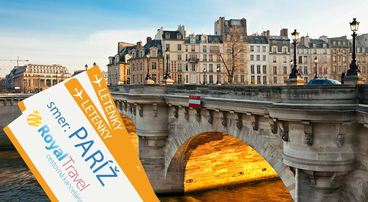 Pariž letecky na 5 dní - nechajte sa okúzliť šarmom francúzskej metropoly