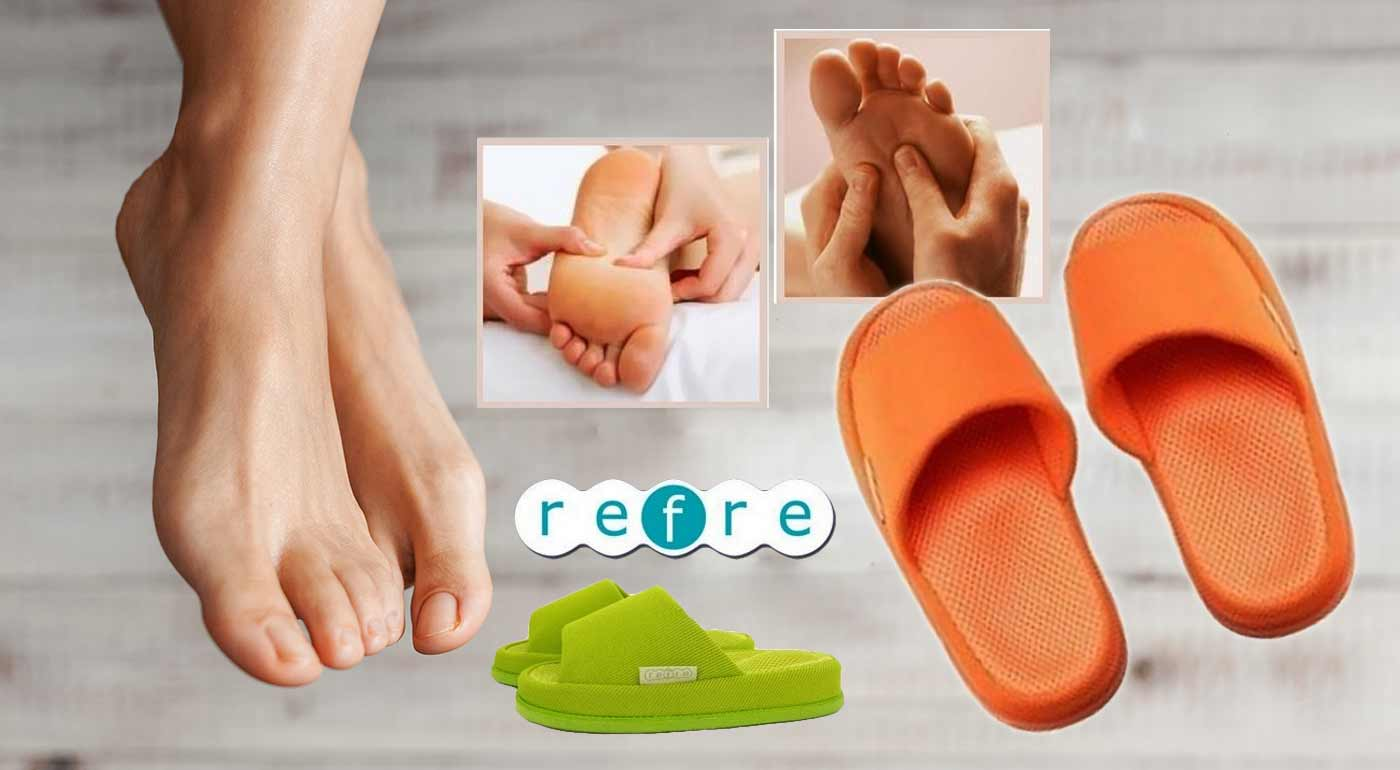 Japonské akupresúrne papuče pre dámy stimulujúce jednotlivé body na chodidlách