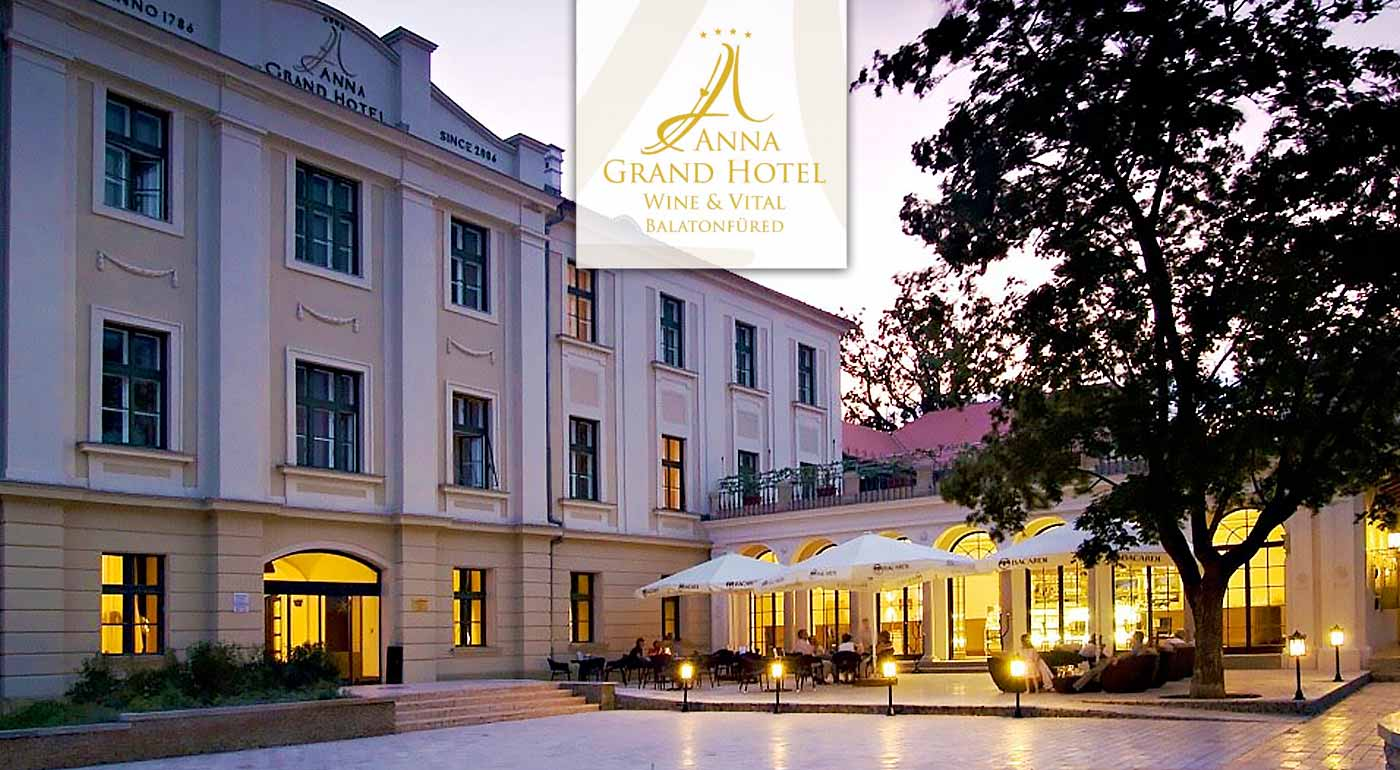 Balaton v luxusnom Anna Grand Hotel**** Wine & Vital s polpenziou - super pobyt s wellness!