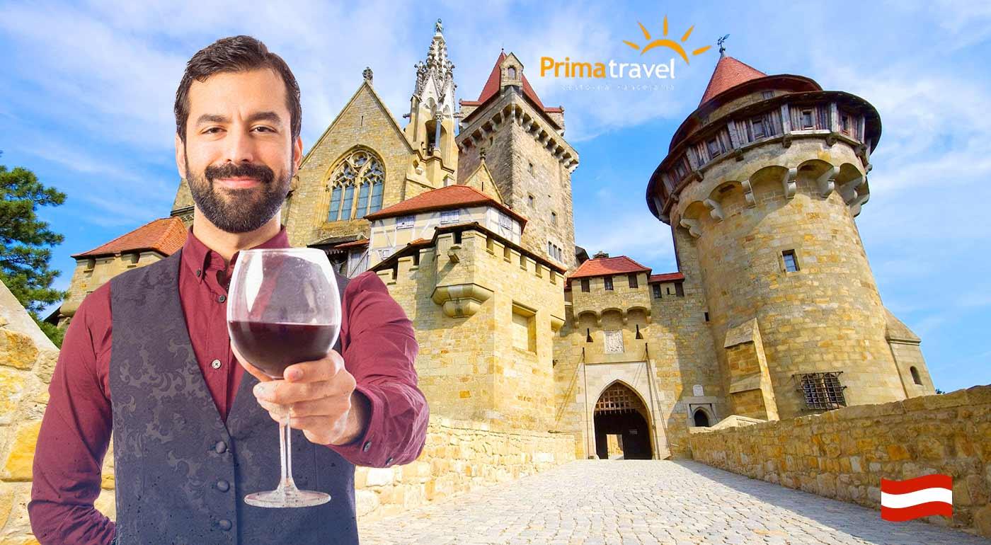 Romantický zámok Kreuzenstein a dedinka vína Poysdorf počas jednodňového zájazdu s CK Prima Travel