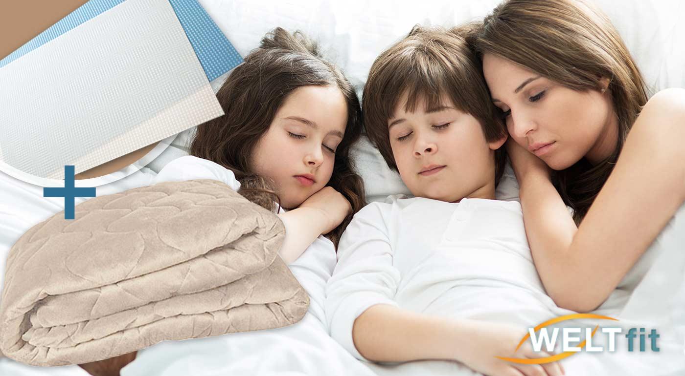 Výhrevná podložka a chránič na matrac v jednom s pozitívnymi účinkami na vaše zdravie. Na výber 2 veľkosti + pohlcovač pachov KLIN-TEC ako darček