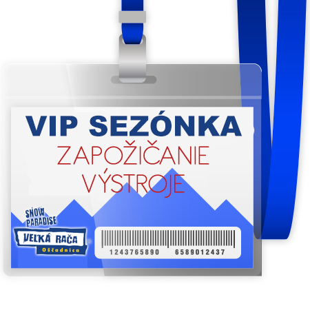 Super sezónka VIP s večerným lyžovaním + zapožičanie lyžiarskej (lyže,lyžiarky,palice) alebo snowboardovej (snowboard+topánky) výstroje na zimnú sezónu 2016/2017 pre 1 osobu