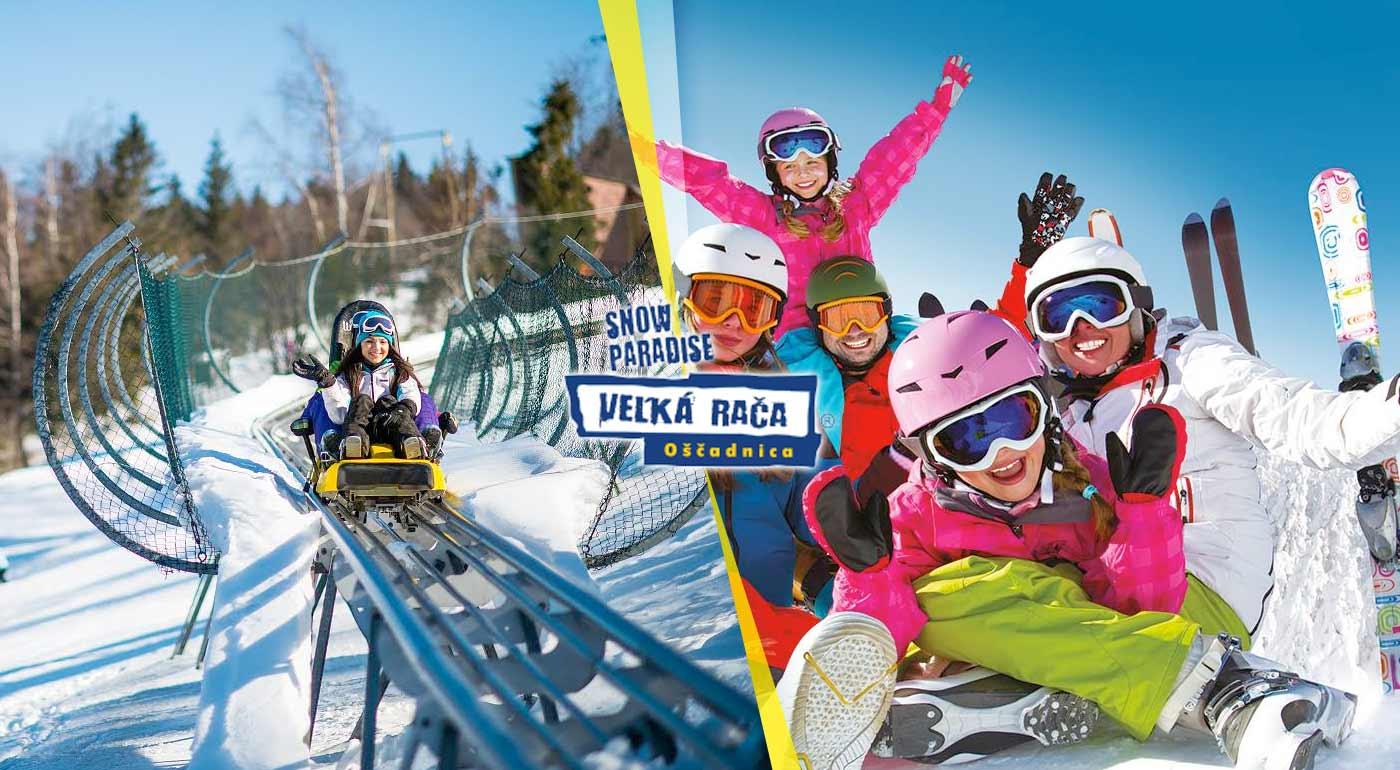 1-denný neprenosný skipas so servisom lyží alebo jazdou na bobovej dráhe v Snowparadise Veľká Rača