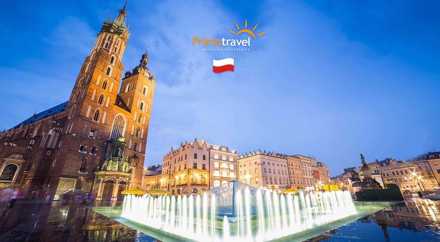 Zájazd do Krakowa na 2 dni s návštevou svetoznámej soľnej bane Wieliczka a Wadowíc - rodného mesta Jána Pavla II.