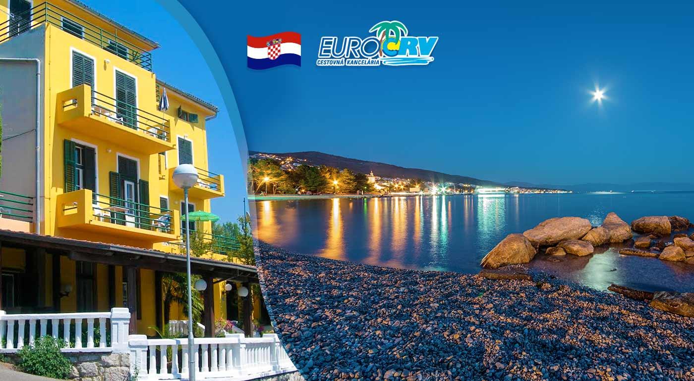 Navštívte Chorvátsko - 8 dní v Hoteli Riviera** v Crikvenici s polpenziou