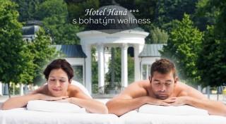 Zľava 57%: Vyrazte za špičkovým oddychom do Mariánskych Lázní - privíta vás tu príjemný Hotel Haná *** s množstvom wellness procedúr. Nájdite stratenú energiu v tomto svetoznámom kúpeľnom meste.